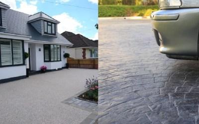 Resin Drives VS Concrete Drives?
