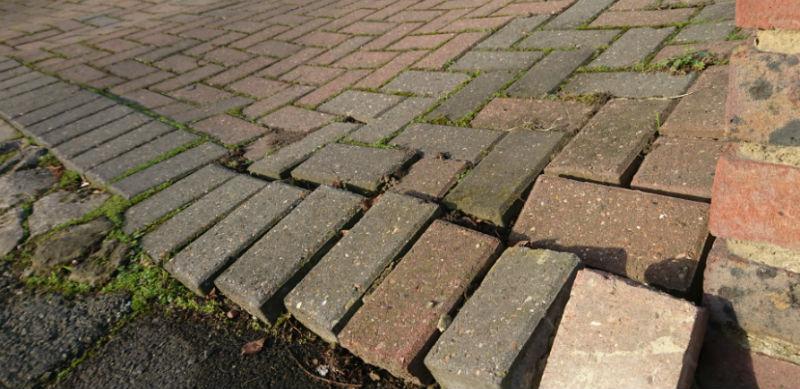 Block paving repair edging