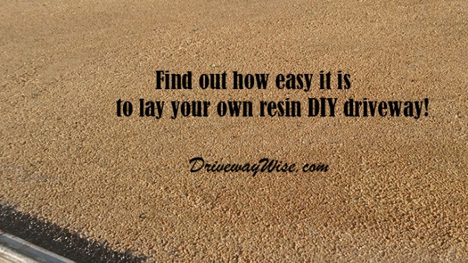 Resin Driveways DIY resin drives installation