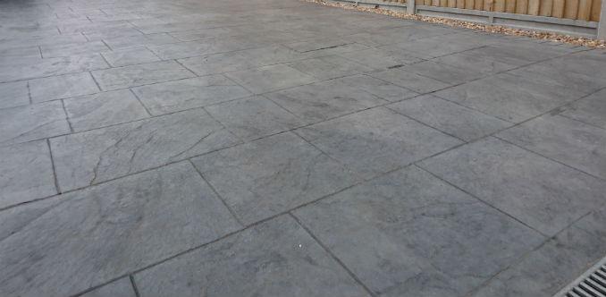 imprinted concrete low maintenance