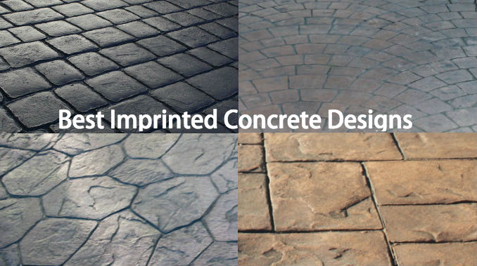 Best imprinted concrete paving design ideas - Driveway Wise