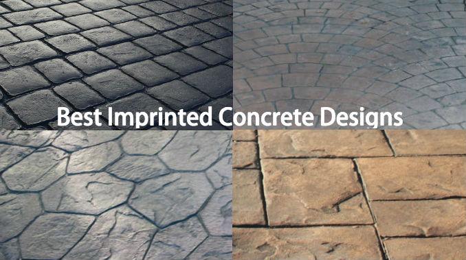 Best imprinted concrete paving design ideas
