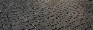 Concrete printed cobble design
