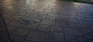 pattern imprinted concrete ashlar slate design