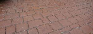 mahogany colour pattern imprinted concrete driveway