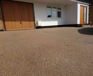 resin driveway overlay light sandstone