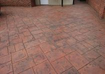 pattern imprinted ashlar red