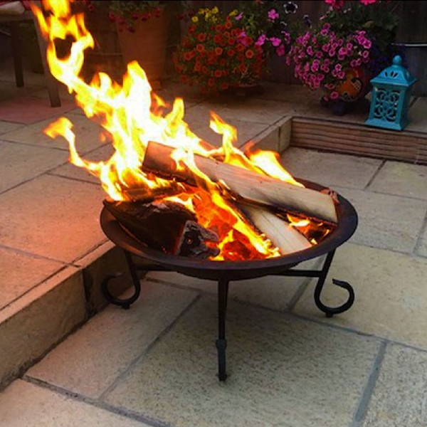 Charles Bentley 56cm Round Patio Fire Pit