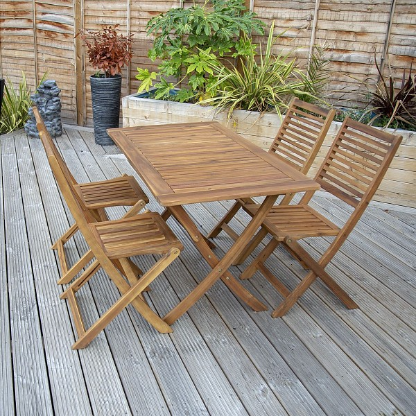 _Charles Bentley FSCA cacia Hardwood 5pc Garden Furniture Set