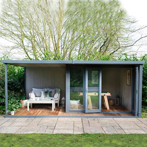 Crane Garden Buildings The Hub Plus Right-Hand Corner Garden Studio