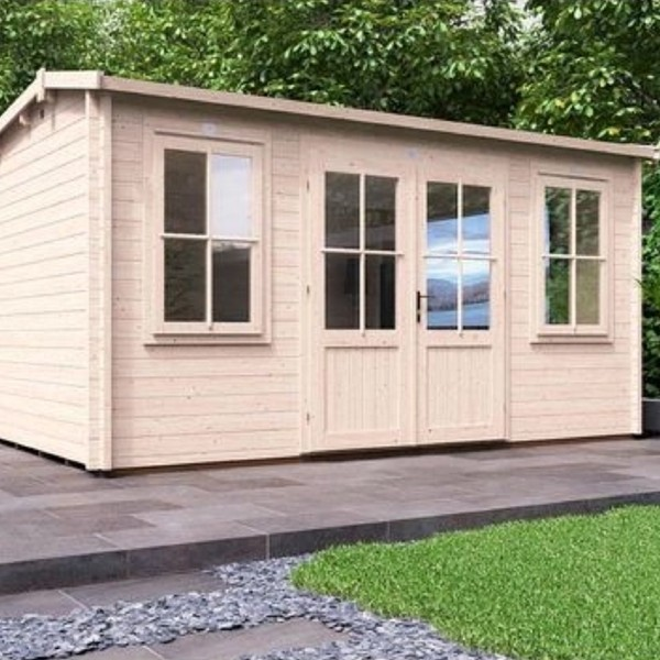 Log Cabin Lantera W4.5m x D3.5m - Summer House Garden Office Workshop Man Cave