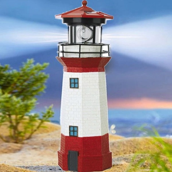 Sunny Solar Lighthouse Rotating Led Patio Garden Lamp