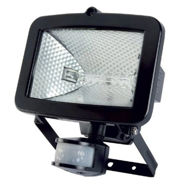 Timeguard Black Energy Saving Sensor 400W Halogen Wall Floodlight