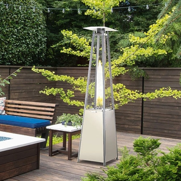 Outsunny Stainless steel pyramid patio heater