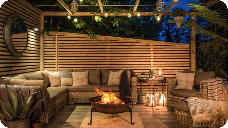 patio ideas 2021 wood panels