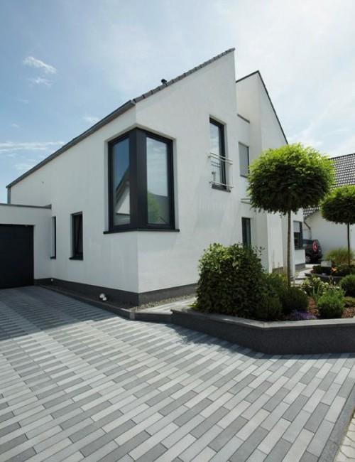 raised edging modern driveway