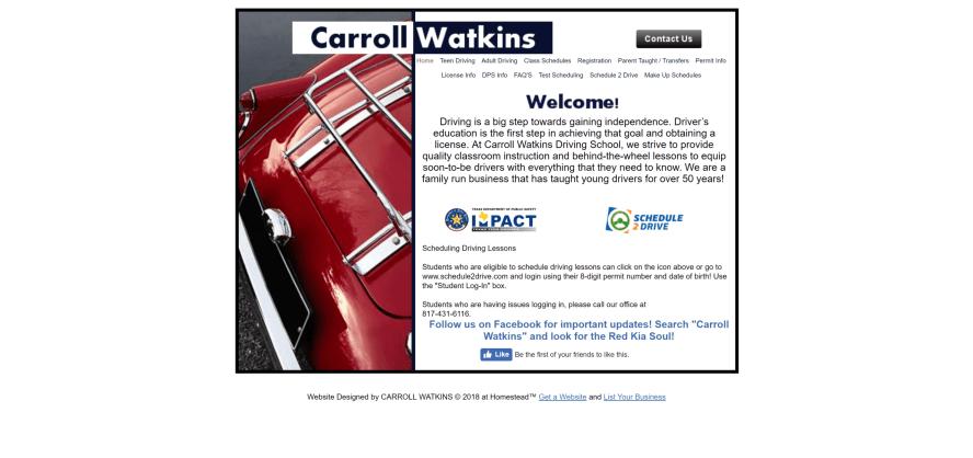 Carroll Watkins Driving School