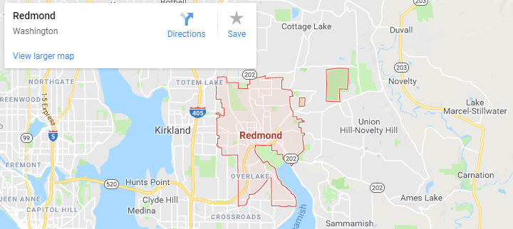 Map of Redmond, mapquest, google, yahoo, bing, driving directions