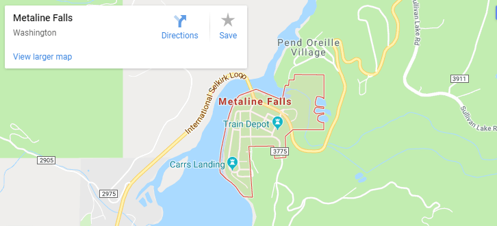 Maps of Metaline Falls, mapquest, google, yahoo, bing, driving directions