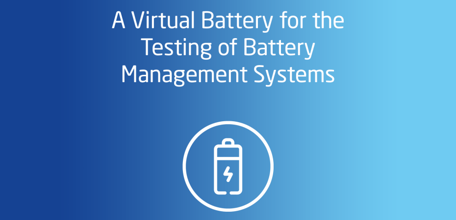 A Virtual Battery for the Testing of Battery Management Systems