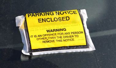 parking notice, parking ticket