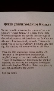 Queen Jennie Sorghum Whiskey