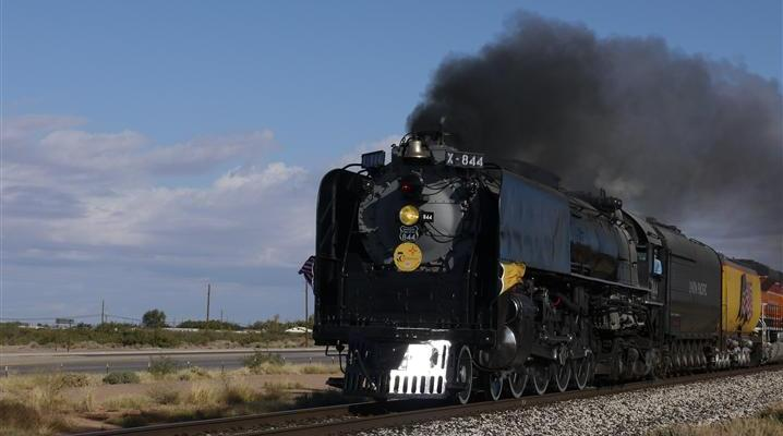 The Last Steam-Powered Locomotive Purchased by Union Pacific Crosses Our Path
