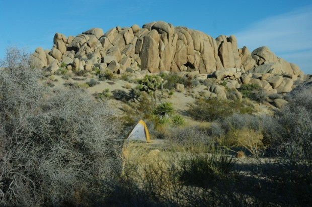 Our second campground, where we weathered a pretty major windstorm.