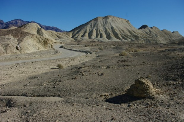 The road through Twenty Mule Team Canyon felt a bit like driving on the surface of the moon.