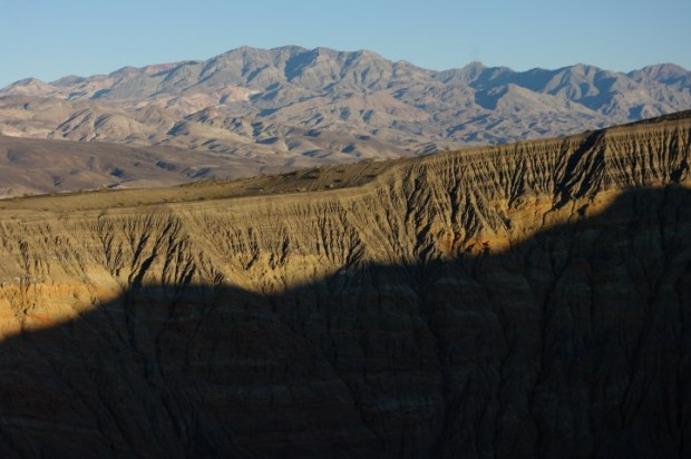 Ubehebe Crater at sunset.