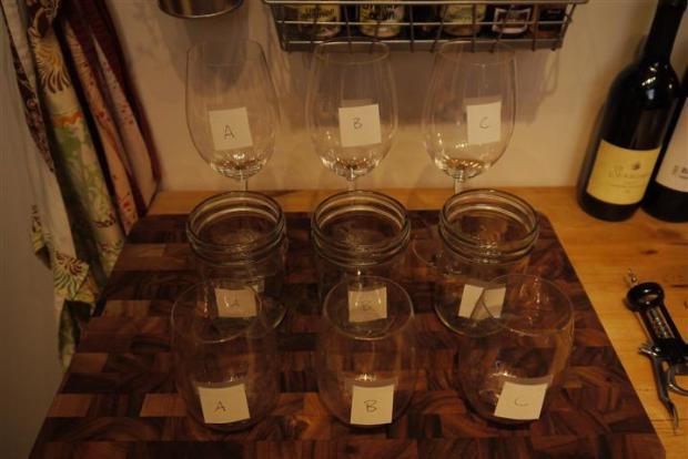 Everybody got a certain type of glass -- stem, jar, stem-less.