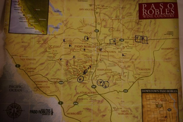 The official winery map.