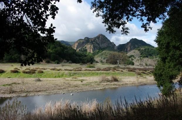 Hiking back to the MASH site along Malibu Creek.