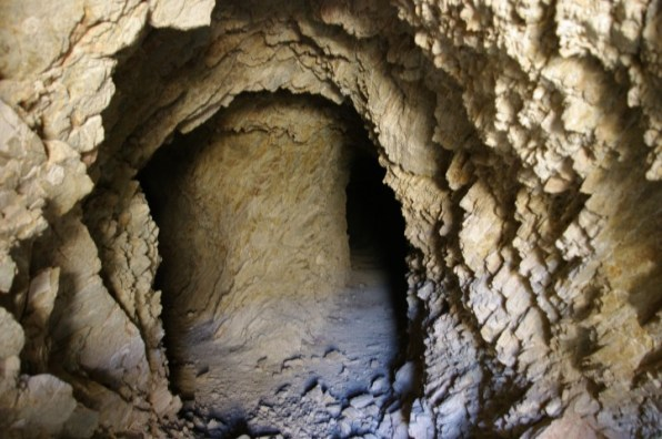 A basalt mine shaft.