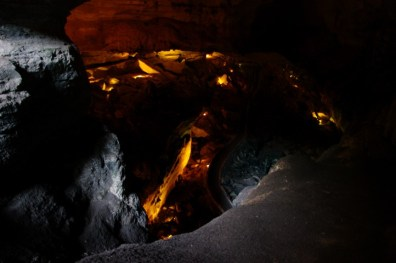 The first view down into the cavern.