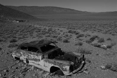 Clapped-out car, Eureka Mine.