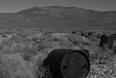 Old oil drums, Eureka Mine.
