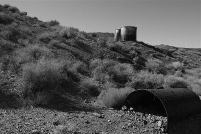 Abandoned tanks, Death Valley.