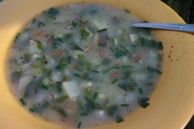 Potato leek soup.