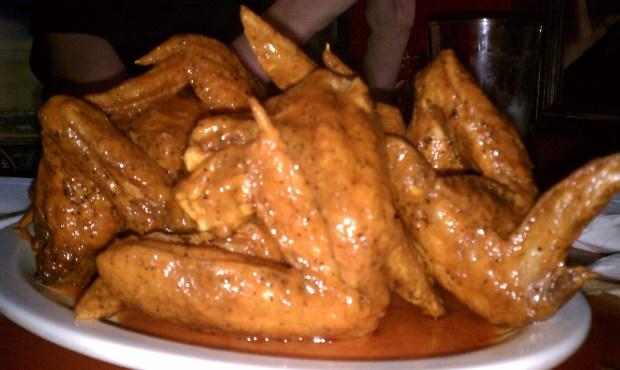 Wings at The Peanut Bar, Kansas City.
