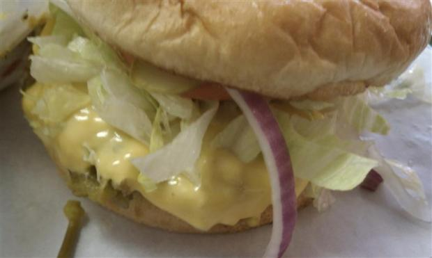 My preciousss. The green chile cheeseburger at Big D's in Roswell, NM.