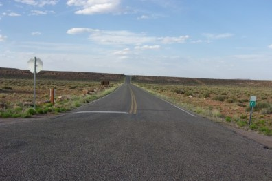 The end of the road at Goosenecks State Park.