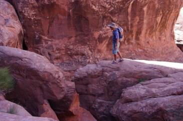 Paul contemplating a leap.