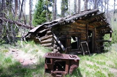 Cabin, stove.
