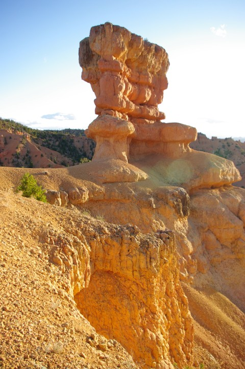 A big hoodoo at the top of the hill.