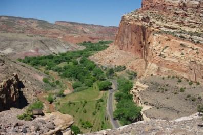 The valley below.