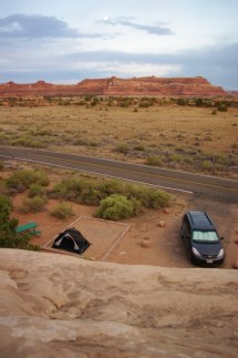 Our campsite from above.