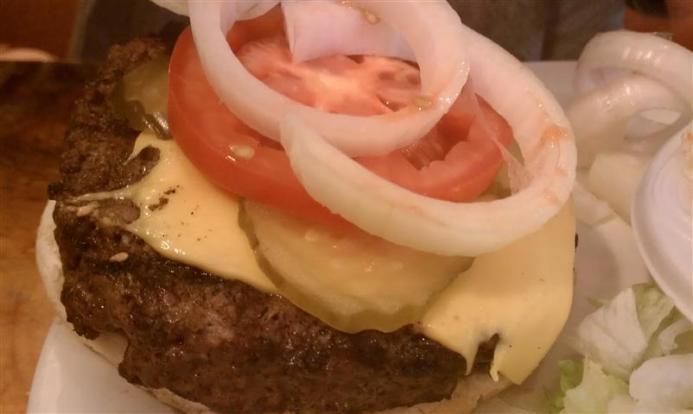 Yum! Ray's cheeseburger.