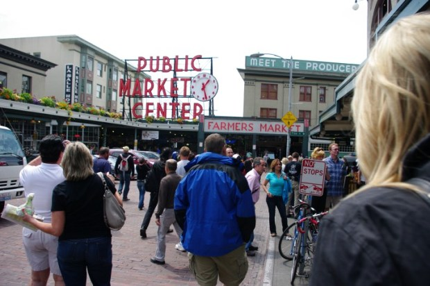 The market entrance.