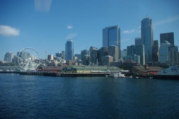 Downtown Seattle from the Bainbridge Island ferry.